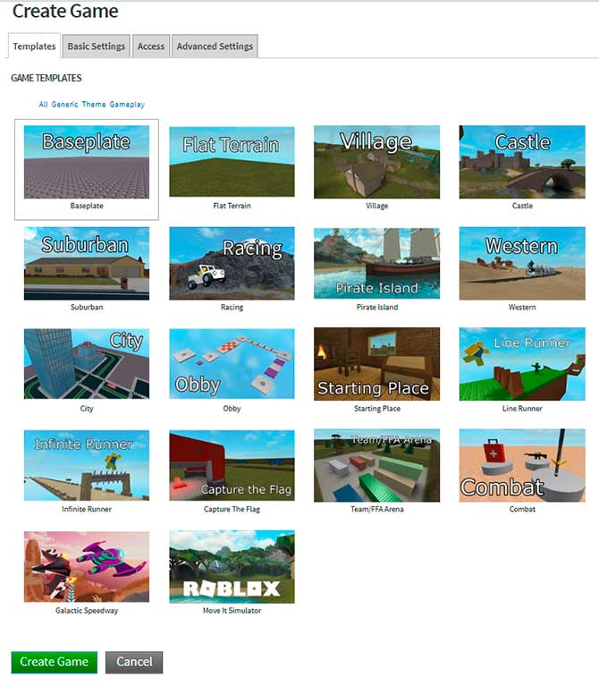 como crear juego roblox