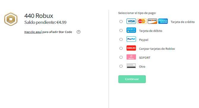 comprar robux roblox pc