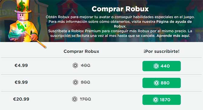 roblox comprar robux