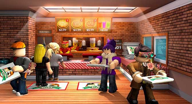 trabaja en una pizzeria roblox